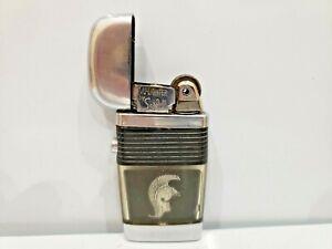 Vintage Working Scripto VU Lighter Trojan Spartan Centurion Black       1061.29