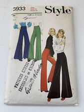 Style Vintage 1970s Trouser Pattern From Grants Of Croydon Uncut Number 3933