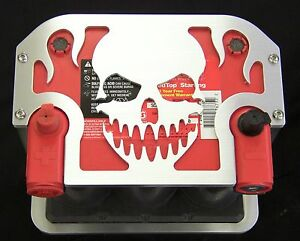 75/35-25 Skull- Aluminum Optima Battery Hold Down/Bracket/Tray--Mopar/Ford/Chevy