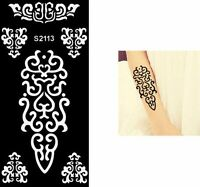 Henna Lace Festival Temporary Tattoo Henna Arm Hand Stencils Template