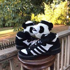 VERY RARE! NEW PANDA Bears Adidas US Size 9.5 Jeremy Scott U42612 AUTHENTIC 100%
