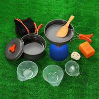 Outdoor Camping Cookware Backpacking Cooking Picnic Bowl Pot Pan Set