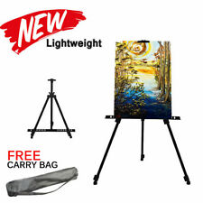 1.6M Tall Aluminium Alloy Folding Painting Easel Adjustable Display Shelf W/ Bag