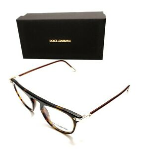 Dolce & Gabbana DG 3318 502 Havana Men's Authentic Eyeglasses Frame 48-20