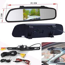 "4.3"" TFT LCD Monitor Mirror Car Rear View System Backup Reverse Camera Kit New"