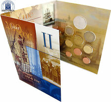 Paesi Bassi 3,88 euro 2002 stgl. KMS 1 cent a 2 euro navi VOC II nel folder