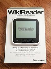 Pandigital WikiReader with 2017 Update Wiki + Gutenberg + More SD Included