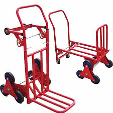NUOVO 120kg Heavy Duty scala arrampicata FLAT BED HAND TRUCK TROLLEY TRI Disco Sistema