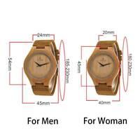 REDEAR Luxus Herren Damen Bambus Holz Watch Quarz Analog Display Mode Armbanduhr