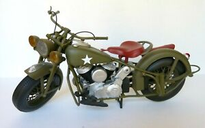 Indian Chief Military/Army Motorcycle WWII 1:6 Scale New Ray EUC