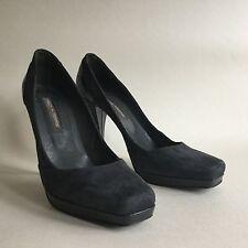 Pied A Terre Grey Suede Stiletto 4.75 Inch  Heel Platform Court Shoes UK 8 EU 41