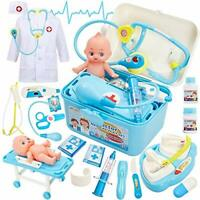 Kids First Aid Medical Baby Doll Pretend Doctor Play Set for Children