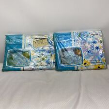Vintage Fashion Manor Jc Penny No Iron Muslin Double Flat + Fitted Sheet Set New