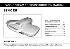 Singer ESP2 Sewing Machine/Embroidery/Serger Owners Manual