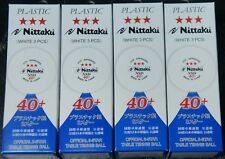12 Nittaku 40+ NSD Ball 3 Star Plastic Table Tennis Ball ITTF Approved New