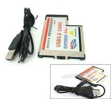 Sintech Laptop Express Card Expresscard 54mm dual USB 3.0 Adapter converter NEC