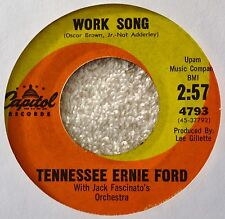 Tennessee Ernie Ford Work Song 45 VG+++ Slow Sultry Cool Mod Popcorn Teen Great!