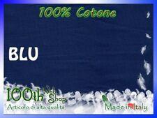 LENZUOLO SOTTO 140X200 FRANCESE 100% COTONE CON ANGOLI MAXI BLU 140 X 200