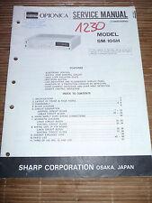 Service Manual pour Sharp SM-105H ,ORIGINAL