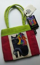 Laurel Burch Black Cat Small Purse Bag Little Girls Size Kitty Bird Parrots