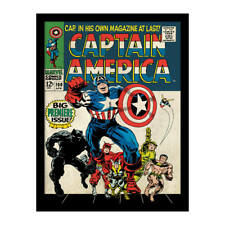 Marvel Captain America Comic book cover Vol 1 #100 1968 featuring Avengers
