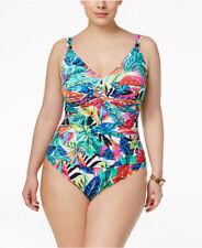 4efb38cf54 *Ralph Lauren Rainforest Tropical‑Print One Piece Swimsuit Plus Sz 22W #R32
