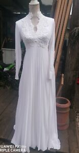 Stunning Vintage White Wedding Dress By Ronald Joyce Size. 12