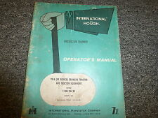 International IH TD6 62 Series Crawler Tractor 6G4 Blade Owner Operator Manual