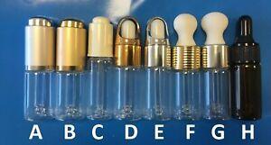 Empty Pipette Dropper Glass Bottles, 10 ml