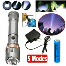 Police Rechargeable 900000LM Zoomable LED Flashlight Torch Light+Battery+Charger