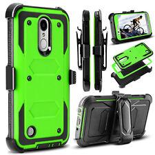 For LG Aristo MS210/ V3 K8 (2017) Hybrid Armor Shockproof Hard Case Phone Cover