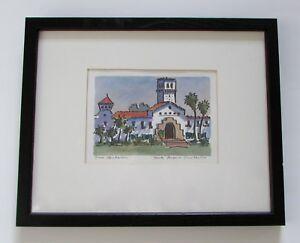 Santa Barbara Courthouse Original Watercolor Painting by Tom Henderson