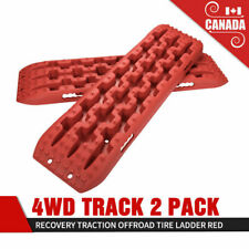 2Pcs Recovery Traction Mat Offroad Red Tracks Sand Snow Tire Ladder 4WD Track