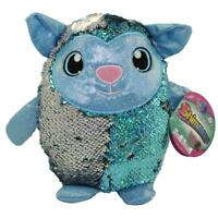 New Shimmeez Sequin Plush LAINEY the Lamb Blue & Silver 8 inch Great Gift Idea