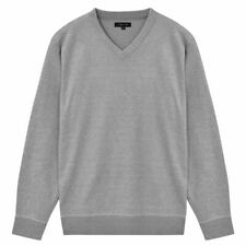 vidaXL Herentrui met V-Hals Grijs XXL Pullover Heren Trui Truien Sweater