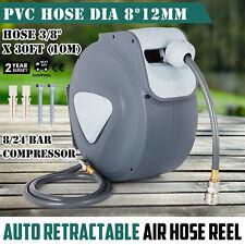 "Air Line Compressor Hose Reel 5/16"" 33ft 10m Auto UK wall mount Retractable"