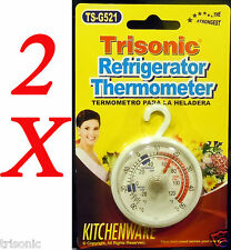 2 UNIT FRIDGE REFRIGERATOR DAIL THERMOMETER FREEZER INDOOR OUTDOOR HOME KITCHEN