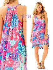 168.00 NWT Lilly Pulitzer Roxi Swing Dress Coral Reef I'm So Jelly Sz M