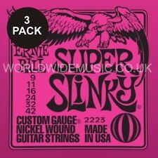 Triple Pack Ernie Ball Super Slinky Níquel Herida Cuerdas de Guitarra-Oferta Especial