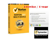 Norton 360 Multi-Device Symantec 3 Device (PC/Mac/Android) 1 Year License Key