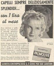 Y3015 Shampoo PALMOLIVE - Capelli deliziosamente... - Pubblicità del 1939 - Ad