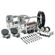 VIAIR 380C DUAL PACK CHROME AIR RIDE BAG SUSPENSION COMPRESSOR PUMP TRAIN ROD