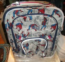 Pottery Barn Kids Spider-man Spiderman spinner small rolling luggage mono Eli