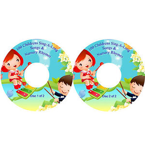 100 Sing-A-Long Nursery Rhymes & Childrens Songs on 2 CDs Fun Party Learning