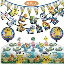 Dream Baby Party, 98pc Pokemon Birthday Decorations, Table Cloth, Balloons, +