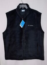 Columbia Men's Flattop Mountain Black Fleece Vest - Size S/L XM1386-012