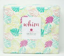 Martha Stewart Collection WHIM 100% Cotton Sheet Set - FULL SIZE - Face Palm