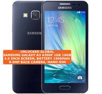 """SAMSUNG GALAXY A3 A300F 16gb Quad-Core 8.0mp Camera 4.5"""" Android Smartphone Lte"""