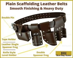 Heavy Duty Scaffolding Leather Tool Belt Full Tools Set Pocket Pouches USA Free