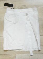 DIESEL Odusa Jupe effet jupe portefeuille Diesel coton soie blanc Taille XS